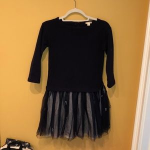 Crewcuts girls dress navy blue size 12